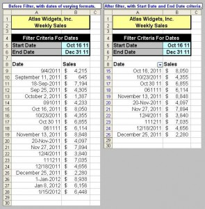 Tom's Tutorials For Excel: Filtering Dates | Microsoft Excel