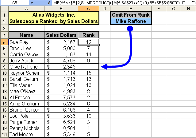 tom u2019s tutorials for excel  ranking with conditional