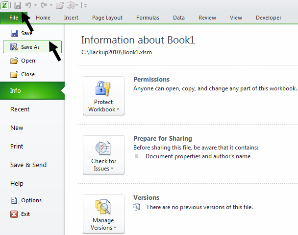Tom\'s Tutorials For Excel: Preventing a Workbook From SaveAs ...