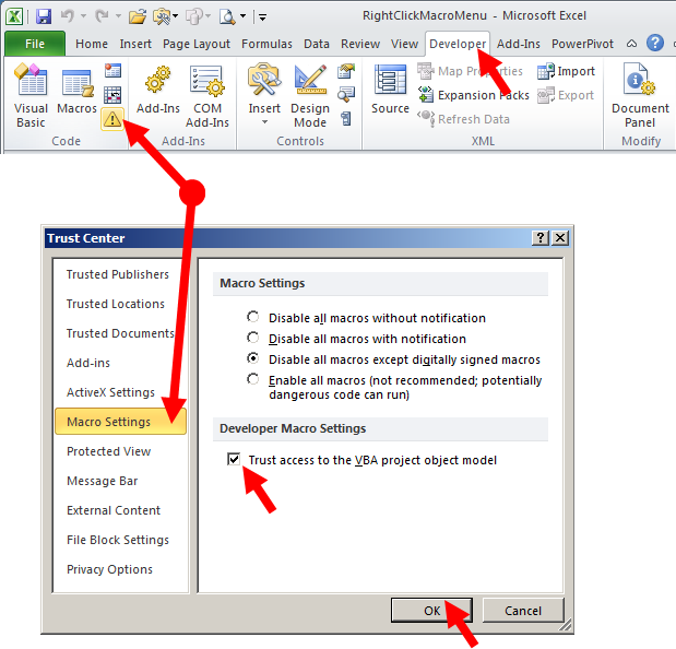 Tom's Tutorials For Excel: Customizing Your RightClick Menu