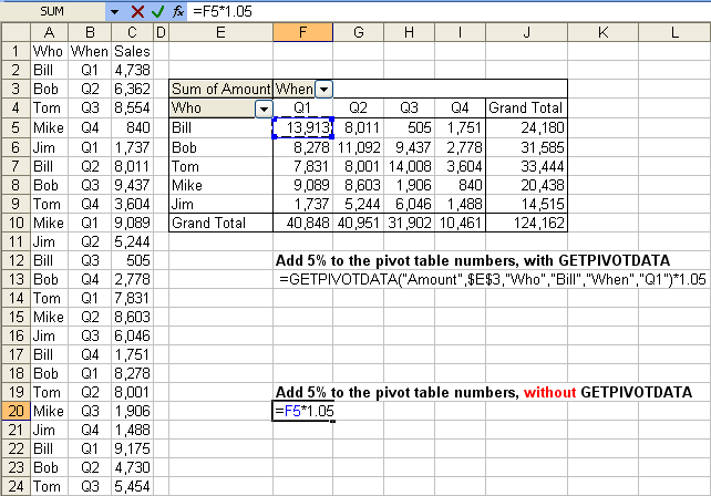 Tom's Tutorials For Excel: Toggling the GETPIVOTDATA Function On ...