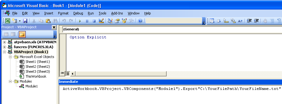 Tom's Tutorials For Excel: Exporting VBA Module Code to a Text File