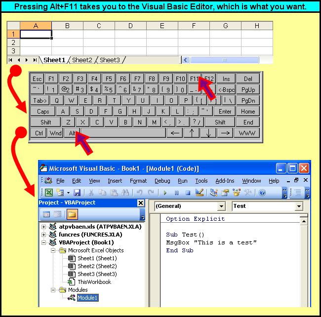 Tom's Tutorials For Excel: Careful! That was *Alt*+F11