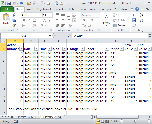 Tom's Tutorials For Excel: History Lesson — A Reserved Sheet