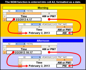Tom's Tutorials For Excel: Verifying a Time as AM or PM