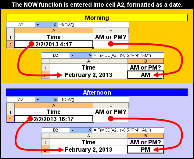 Tom's Tutorials For Excel: Verifying a Time as AM or PM | Microsoft