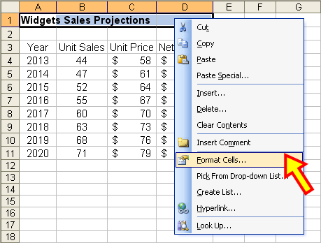 Tom's Tutorials For Excel: Using Center Across Selection