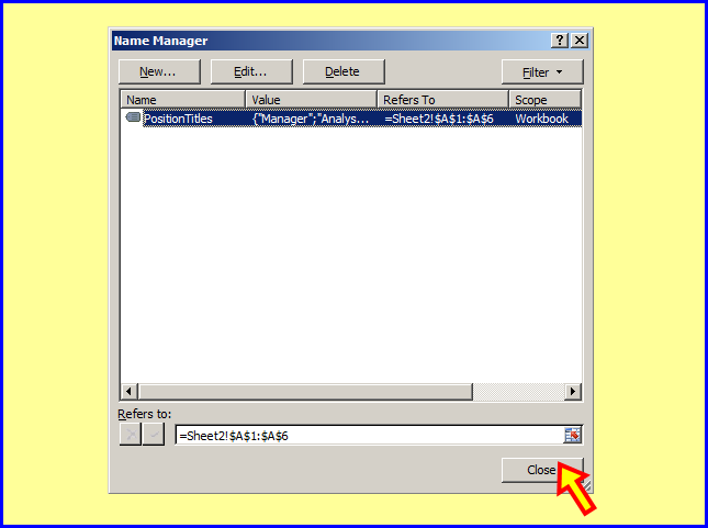 Tom's Tutorials For Excel: Using a Data Validation List From