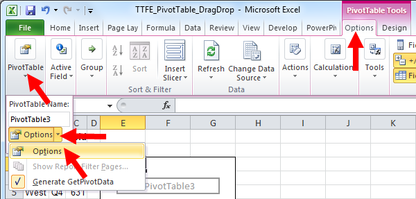 tom s tutorials for excel setting 2007 pivottables for drag and