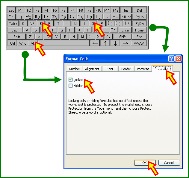 Tom's Tutorials For Excel: Conditionally Formatting Locked