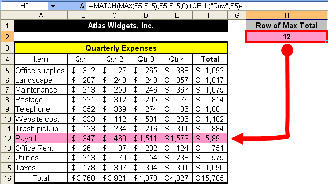 Tom's Tutorials For Excel: Finding the Absolute Row Number